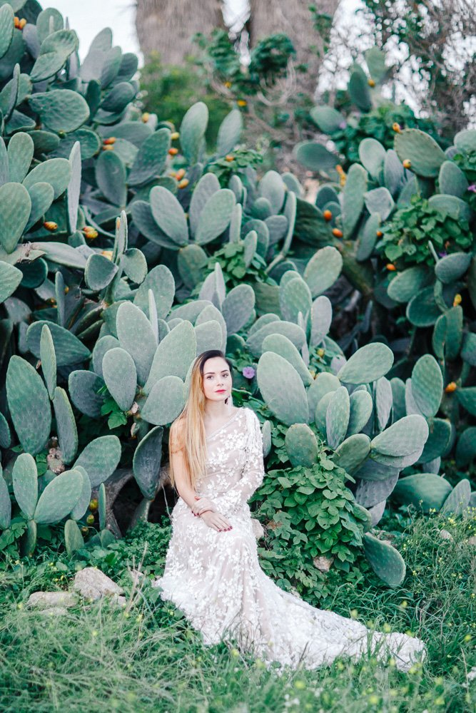 Brautkleid in Kakteen, Fashion Wedding Malta